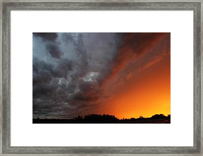 Wild Storm Clouds Over Yorkton Framed Print by Ryan Crouse