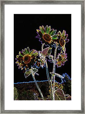 Wild Sunflowers Stylized Framed Print