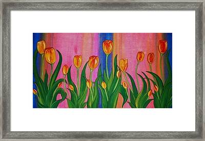Wild Tulips Framed Print by Cindy Micklos