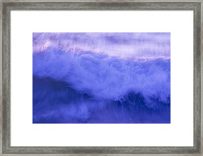 Wild Waves Framed Print
