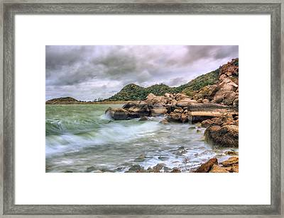 Wild Weather On Lake Altus - Oklahoma - Quartz Mountains Framed Print