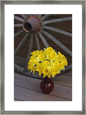 Framed Print featuring the photograph Wild West Daffodils by Diane Alexander