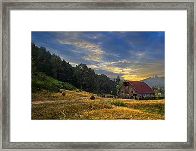 Wild West Farm Framed Print by Debra and Dave Vanderlaan