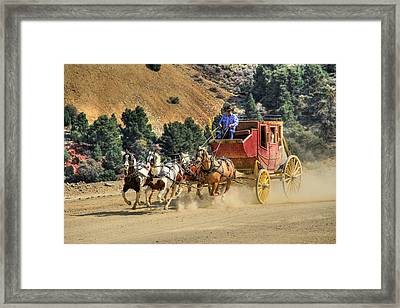 Wild West Ride 2 Framed Print by Donna Kennedy