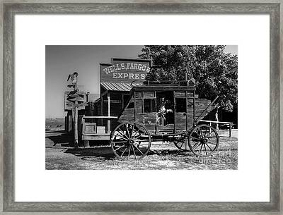 Wild West Stagecoach Framed Print by Mel Steinhauer