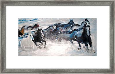 Wild Wild Horses Framed Print by Helena Bebirian