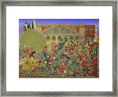Wild Wild Wall Street Framed Print by Paul Calabrese