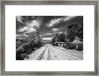 Wild Wild West Bolivia Black And White Framed Print by For Ninety One Days