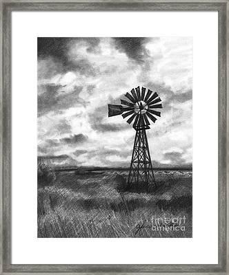 Wild Wind And Sunshine Framed Print by J Ferwerda