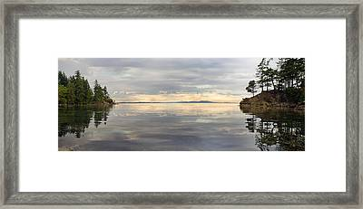 Framed Print featuring the photograph Wildcat Cove Along Chuckanut Drive In Washington by JPLDesigns
