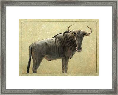 Wildebeest Framed Print by James W Johnson