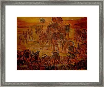 Wilderbeast Framed Print