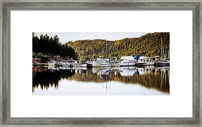 Wilderness Fishing Boats Framed Print
