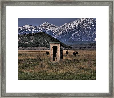 Wilderness Outhouse Framed Print by CR  Courson