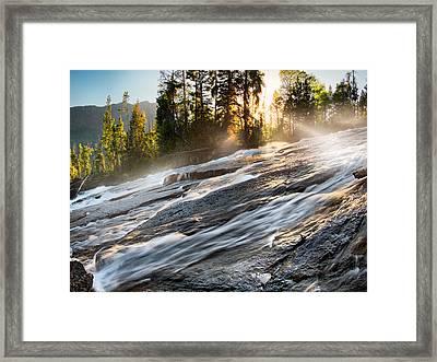 Wilderness River Framed Print by Leland D Howard