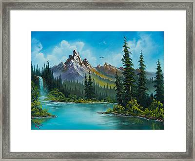Wilderness Waterfall Framed Print by C Steele