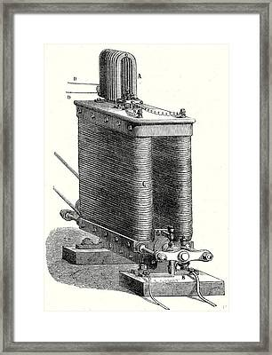 Wildes Magneto-electric Machine Framed Print by English School