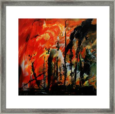 Wildfire 8 Framed Print by Chad Rice