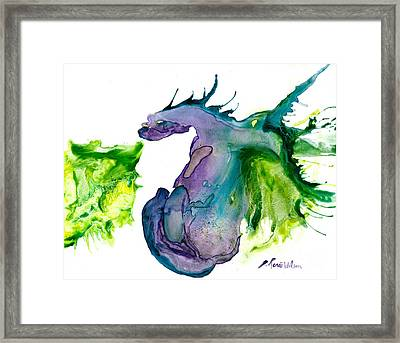 Wildfire And Water Dragon Framed Print