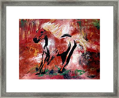 Wildfire Framed Print by Nan Bilden