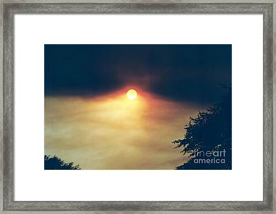 Framed Print featuring the photograph Wildfire Smoky Sky by Kerri Mortenson