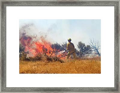 Wildfire South Of The City Of Boise Framed Print by David R. Frazier