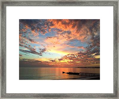 Wildfire Sunset Framed Print