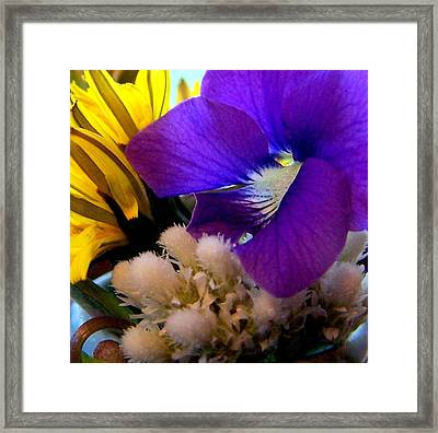 Wildflower Bouquet Framed Print