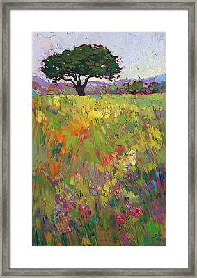 Framed Print featuring the painting Wildflower Hill by Erin Hanson