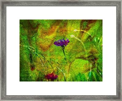 Framed Print featuring the digital art Wildflower Pettifoggery by J Larry Walker