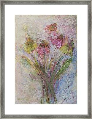Framed Print featuring the painting Wildflowers 2 by Mary Wolf