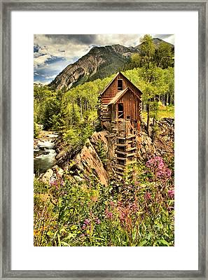 Wildflowers And History Framed Print by Adam Jewell
