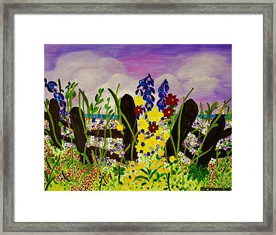Wildflowers By The Sea Framed Print by Celeste Manning