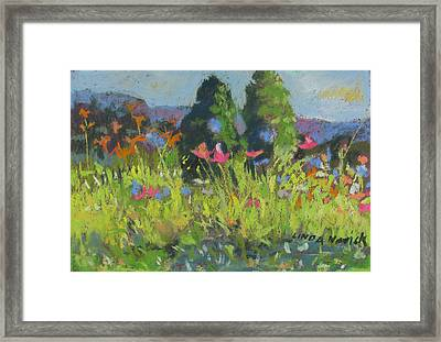 Framed Print featuring the painting Wildflowers by Linda Novick