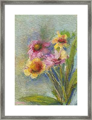 Framed Print featuring the painting Wildflowers by Mary Wolf