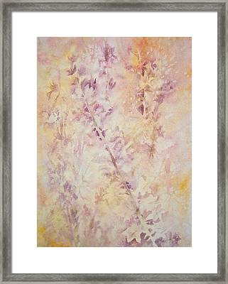 Framed Print featuring the painting Wildflowers Three by Carolyn Rosenberger