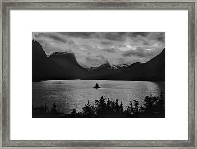 Wildgoose Island Bw Framed Print