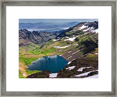 Wildhorse Lake Framed Print