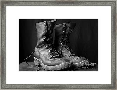 Wildland Fire Boots Still Life Framed Print by Kerri Mortenson