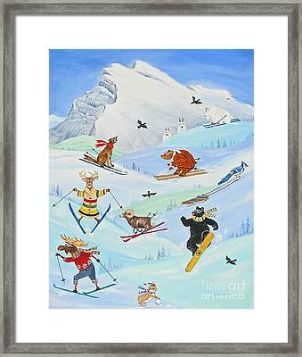 Wildlife Freestyle Framed Print by Virginia Ann Hemingson