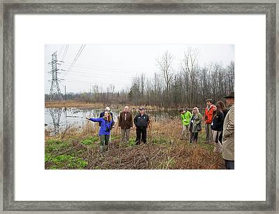 Wildlife Habitat Tour Of Corporate Land Framed Print
