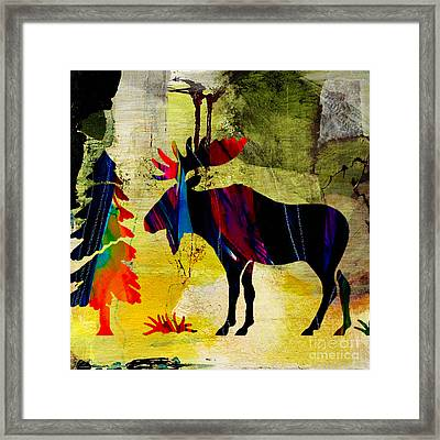 Wildlife Moose In Nature Framed Print by Marvin Blaine