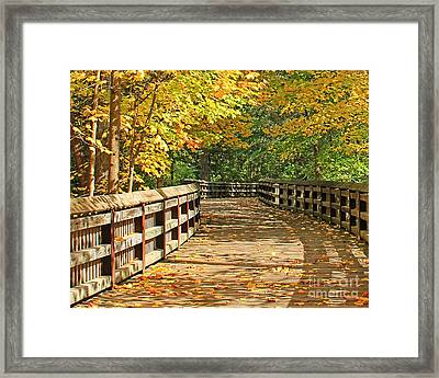 Wildwood Boardwalk Corrected Framed Print