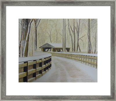 Wildwood Bridge Framed Print by Samuel McMullen