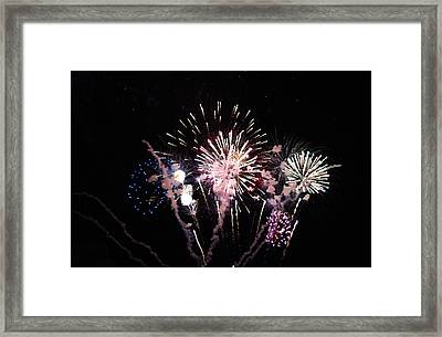Framed Print featuring the photograph Wildwood Fireworks by Greg Graham