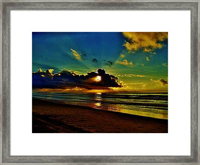 Wildwood Sunrise Framed Print