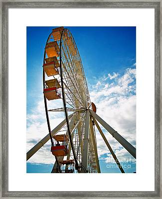 Wildwood's Wheel Framed Print by Mark Miller