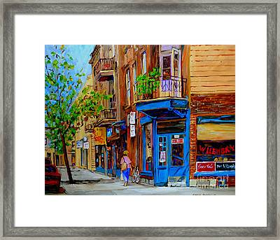 Wilensky's Diner And Snack Bar Framed Print by Carole Spandau