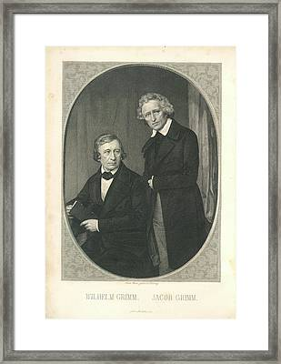 Wilhelm And Jacob Grimm Framed Print by British Library