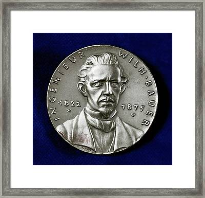 Wilhelm Bauer Framed Print by Universal History Archive/uig